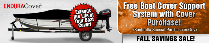 Free Boat Cover Support System w/ Cover Purchase!