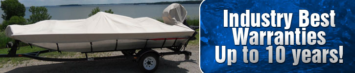Industry Best Warranty on Boat Covers