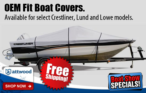 Available for select Crestliner, Lund and Lowe models.