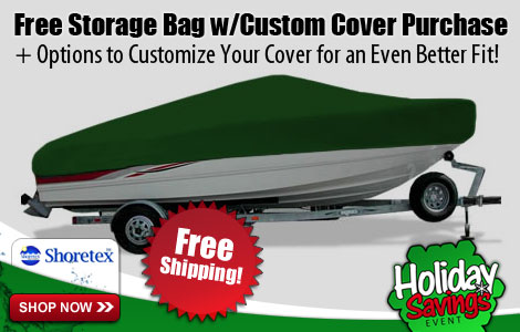 Free Storage Bag w/Custom Cover Purchase