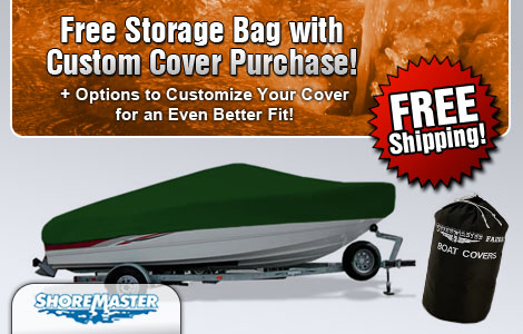 Free Storage Bag w/Custom Cover Purchase!