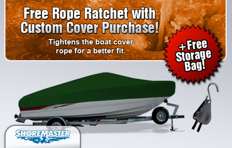 Free Rope Ratchet with Purchase of a ShoreMaster Custom Cover!
