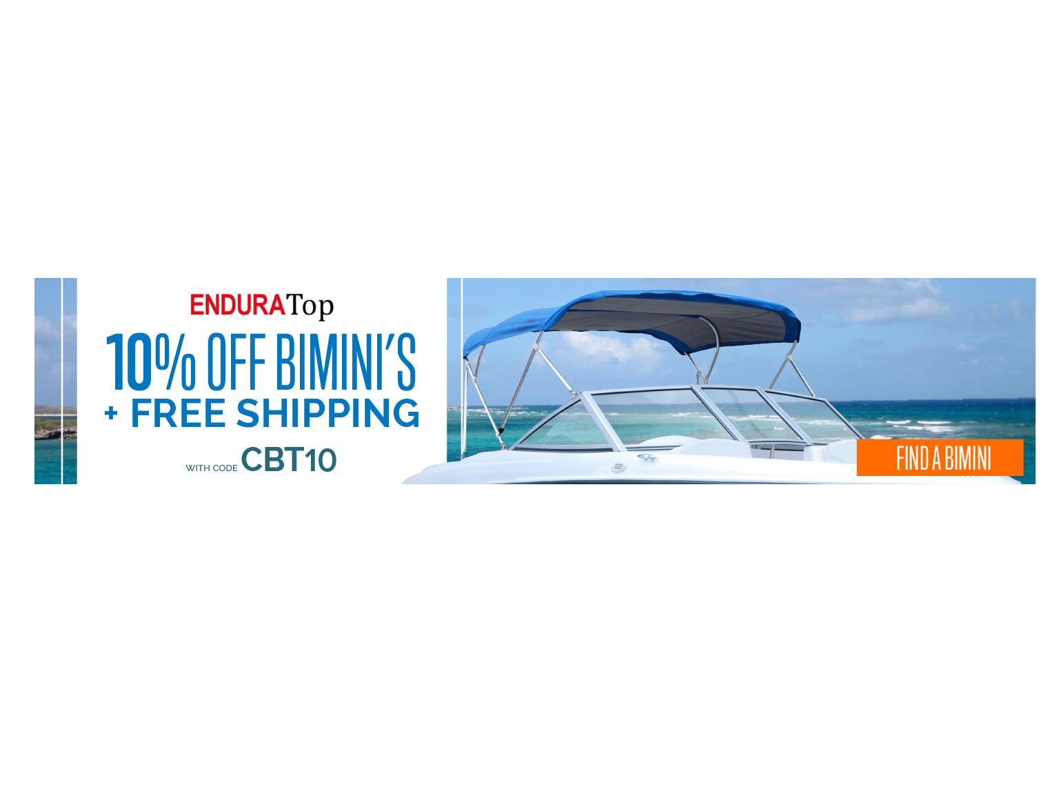 EnduraTop Bimini sale April, 10% off
