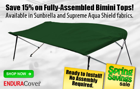 15% Off Fully-Assembled Biminis!