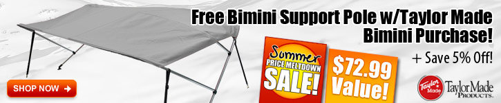 Free Bimini Support Pole w/ Taylor Made Bimini Purchase!