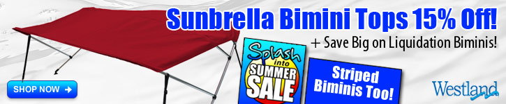 All Sunbrella Bimini Tops 15% Off!
