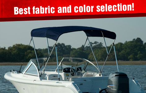 iboats has the best fabric and color selection for bimini tops!