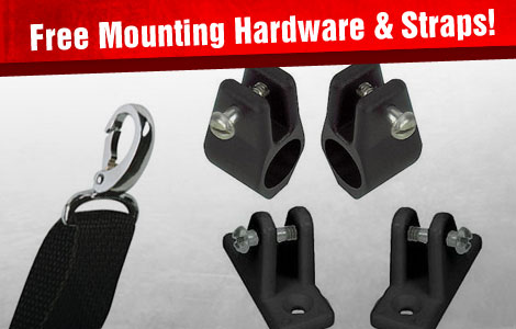 Free Mounting Hardware and Straps