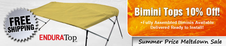Bimini Tops 10% Off! Fully Assembled Bimini Too!