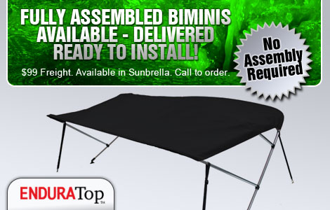 Bimini Tops Delivered Ready to Install - No Assembly Required