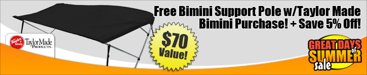 Save 5% Off! Plus Free Bimini Support Pole!