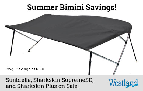 Save 15% Off Westland Bimini Tops