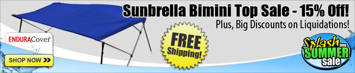 Save 15% Off Sunbrella Bimini Tops!