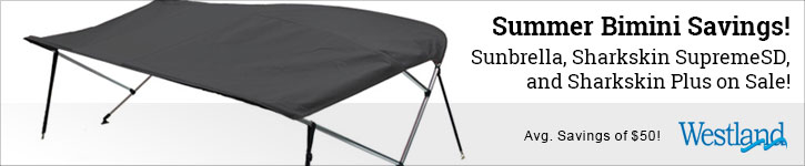 Save 15% Off Westland Bimini Tops!