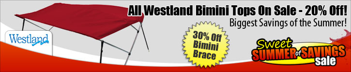 Save 20% Off Westland Bimini Tops!