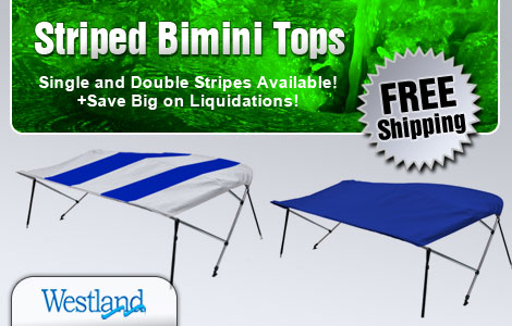 Striped Bimini Tops - Single and Double Striped Available!